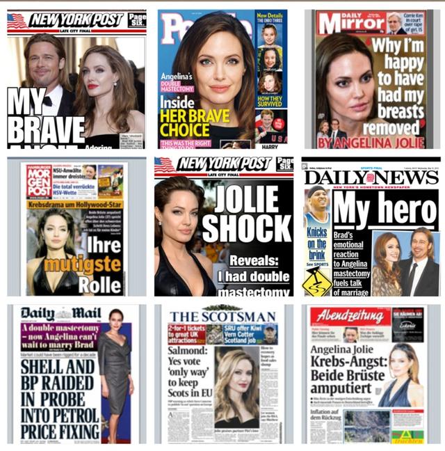Angelina Jolie na agenda jornalística