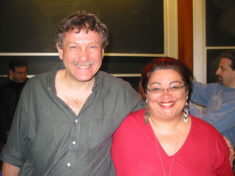 Ruth Bellinghini com Eric Lander, que sequenciou o genoma humano