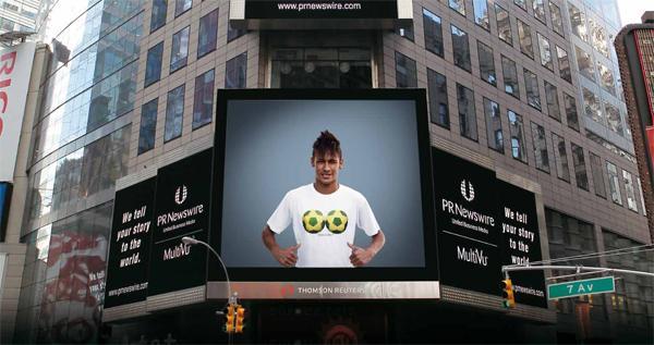 Neymar é astro de campanha que foi vista até na Times Square